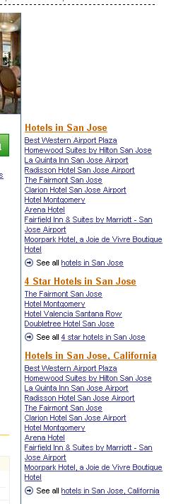 Hotel De Anza crosslinking modules